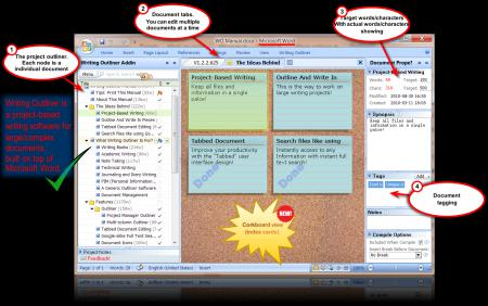 ... for MS Word | Outline and organize your large