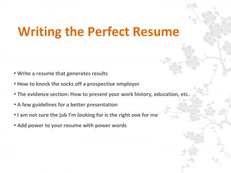 Writing the Perfect Resume.pptx