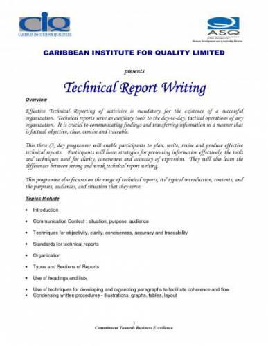 Technical Report Writing Technical Report Writing Technical Report by ...