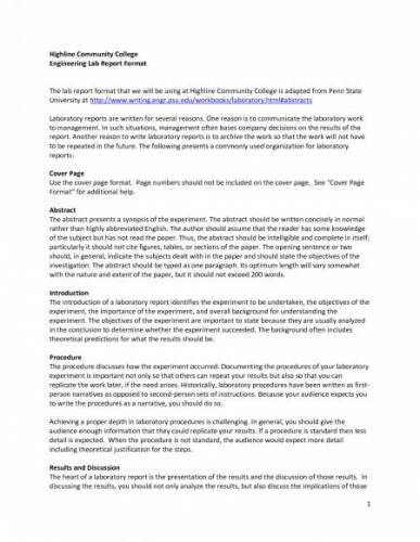 college report writing format - Florida Department of Education School