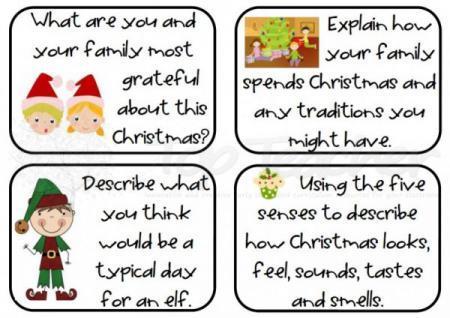 Christmas writing task cards   Top Teacher - Innovative and