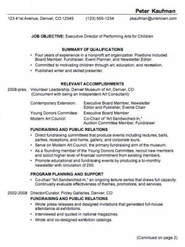 ... professional resume template from my Ready-Made Resume Builder