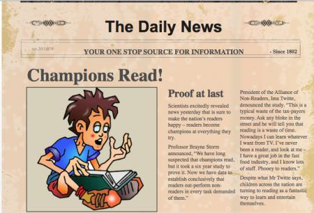 Write a newspaper article that has something to do with