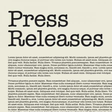 press release artwork