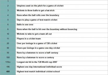 Writing number poems about cricket | 1.6 Writing number poems