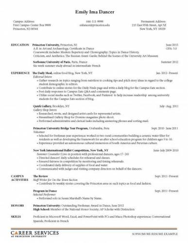 Sample Resumes | Career Services